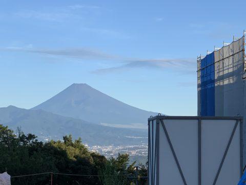 現場からの富士山。